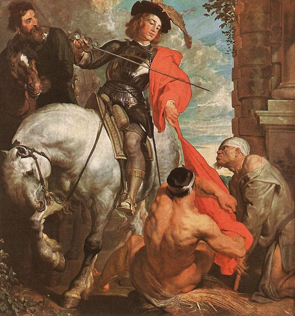 Anthony van Dyck (1599–1641), St Martin Dividing his Cloak, c.1618